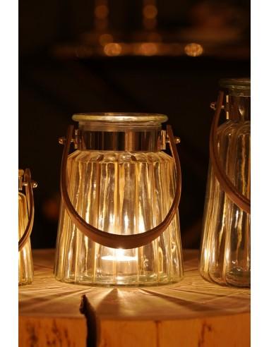 Lampion szklany 14x17