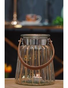 Lampion szklany 17x21